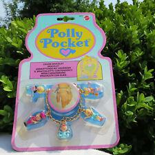 Mini Polly Pocket Charm Bracelet Bettelarmband mit Kettchen BABY 1992 Bluebird