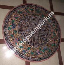 """48"""" Marble Top Dining Table Mosaic Various Stones Art Rare Inlay Outdoor Decor"""