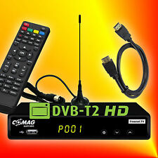 Comag SL65T2 H.265 HEVC USB DVB-T/T2 HD Receiver + Mini-Antenne + HDMI-Kabel