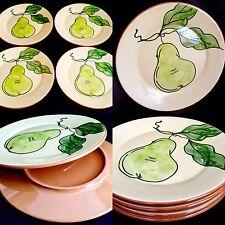 "Set of 4 Designer Hand Painted Glazed Pottery ""House of Fraser"" 8""/20cm Plates"