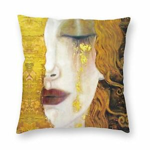 Gustav Klimt Oill Painting Cushion Cover Square Couch Throw Pillow Case 16-26 in