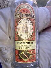 Labeled Bitters Colored Paper Label P.Melchers Schiedam Castle Graphics