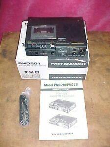Marantz PMD201 Portable Mono Cassette Recorder in Original box-Great Condition!