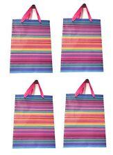 Lagiwa® Lot de 4 Sacs Papier Cadeaux RAYURES ROSE MM 32X26X10cm