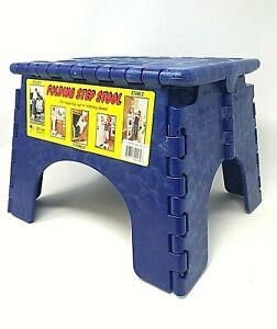 Sturdy B & R, E-Z Foldz Folding Step Stool: SAPPHIRE BLUE