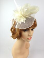 Women's Fashion Fascinators Spring Races Melbourne Cup Mesh and Feathered Flower