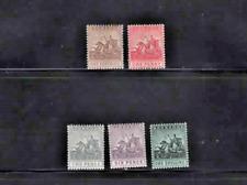 More details for 1909 barbados complete set (5)  - wmk mcca sg 163/169 - cv £90