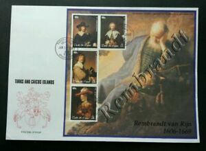 [SJ] Turks And Caicos Islands Famous Painters 2003 Arts Painting (sheetlet FDC)