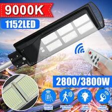 3800W 1152 LED Solar Street Light Outdoor Garden Road Motion Sensor Wall Lamp  L