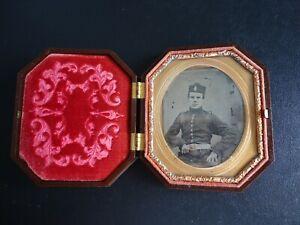 Original Civil War ZOUAVES Ambrotype Photograph