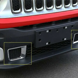 For Jeep Renegade 2015-2016 Front Bumper fog Grille Air Vent Outlet Cover Trim