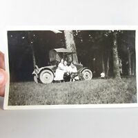 "VTG Car Photo Model T Ford Roadster Convertible Automobile 6"" x 3.5"" WOMEN"