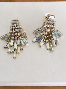 flapper drop tassel earrings glamorous bling crystal trendy chic   glam earrings