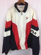 Vintage FILA B Ball Windbreaker Mens Red White Blue Retro XXL Zip Up Jacket DK