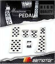 Aluminum Manual MT Pedal Set Gas Brake Clutch Rest Pedals for Mercedes Benz W204