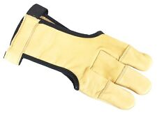 Schiesshandschuh HUNTER DELUXE SAND L Bogenschießen Handschuh Leder Herren Glove