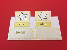 Montessori - Pre-Reading Series - Three Part Cards And Folio - Shapes