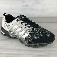 Keep Running Sport Shoes Casual Athletic Sneakers Black White Men's US 9.5
