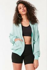 NWT Urban Outfitters Green Silence + Noise Eve Dolman Bomber Jacket Size Small
