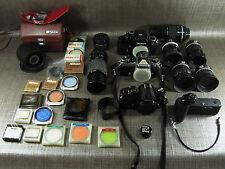 Nikon Fotoausrüstung Konvolut analog mit Koffer