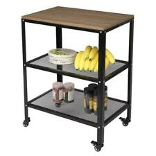 More details for 3-tier kitchen microwave cart, rolling kitchen utility cart, standing bakers rac