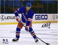 "K'Andre Miller New York Rangers Signed 8"" x 10"" NHL Debut Skating Photo"