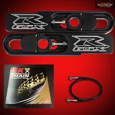 2000 Ultimate GSXR 750 Swingarm Extensions Kit, EK ZVX3 525 Chain, Brake line