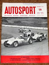Autosport 25/9/59* New ROLLS ROYCE V8 ENGINE - ITALIAN GP REVIEW  - LONDON RALLY