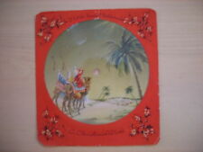 Vintage CHRISTMAS CAROL RECORD CARD Town of Bethlehem