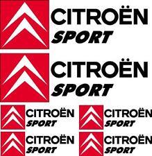 6 Stickers autocollants logo Citroen sport noir