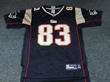 LIGHTLY WORN REEBOK NFL NEW ENGLAND PATRIOTS WES WELKER YOUTH JERSEY L  (14-16 e575483f8
