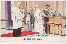 Bert Thomas, It's That Man Again, Tuck Comic Postcard, B717