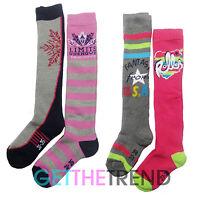 Girls Ski Socks Kids Skiing Thermal Snowboard Winter Thick Long Sports 2,4 Pairs