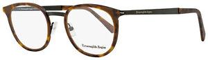 Ermenegildo Zegna Oval Eyeglasses EZ5048 053 Havana/Matte Black 49mm 5048