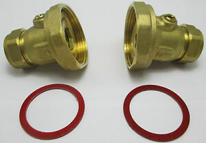 BALL TYPE PUMP VALVE 22mm x 1.1/2'' BRASS COMPRESSION CENTRAL HEATING PAIR or 1