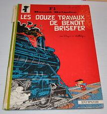 Benoit Brisefer #3 Bd 1968 Dos Rond Eo Peyo Walthery