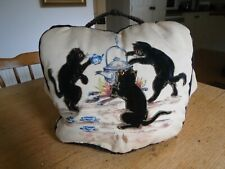 More details for vintage mid century padded tea cosy - cats