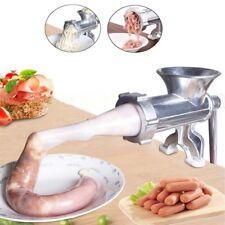 Manual Meat Grinder Mincer Sausage Filler Maker Kitchen Stuffer Table Hand Tool