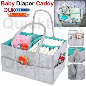 Infant Baby Nappy Storage Bin Diaper Wipes Bag Caddy Nursery Organizer Basket