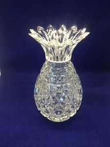 """10"""" Crystal Pineapple Vase Shannon by Galway"""