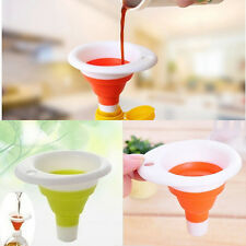 Household Folding Telescopic Silicone Mini Funnel Food-grade Liquid Packing