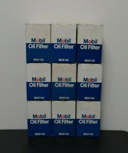 NOS Lot of 9 Mobil MOF-141 Oil Filters