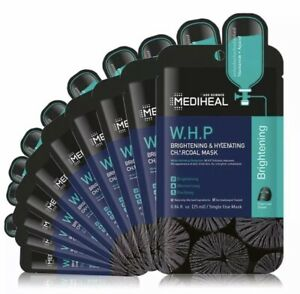 10x [ MEDIHEAL ] W.H.P. Brightening & Hydrating Charcoal Mask Pack/Lot WHP
