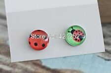 Screw Back (pierced) Unbranded Glass Round Costume Earrings