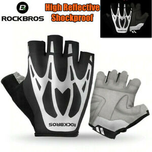 ROCKBROS Bicycle Gloves MTB Road Shockproof Half Finger Reflective Cycling Glove
