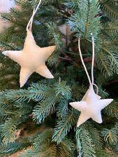 Restoration Hardware Star Ornament Size Large and Small Set White Felt New