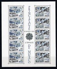 MONACO BLOC FEUILLET 52 EUROPA 1991 N**  COTE 29€ ESPACE EUTELSTAT IMMARSTAT