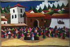 Peruvian Wool Tapestry Hand Woven Huge 68 x 47 (Wall Hanging)