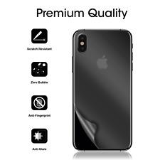 For iPhone X Premium Anti-Glare/Fingerprint Back Screen Protector -3 Pack