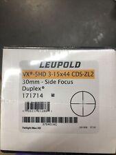 Leupold 171714 Vx-5Hd 3-15x44mm Cds Zl2 Matte 30mm Tube Sf Duplex